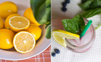 Blueberry-Basil Meyer Lemonade Recipe