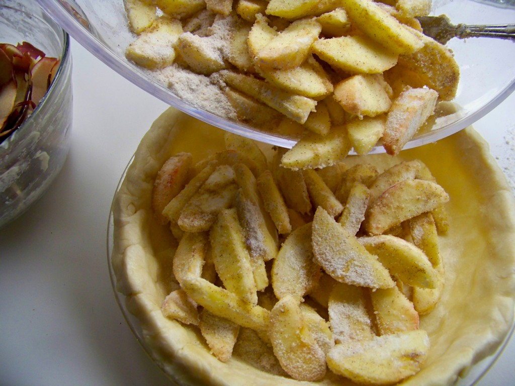 making an apple pie to an mud pie Mix pudding as directed on package add cream cheese, whipped topping and crushed cookies (reserve 1 cup cookie crumbs) mix and pour into flower pot.