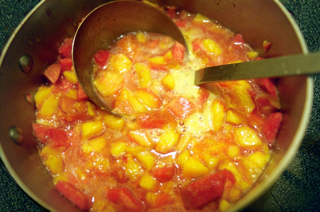 Peaches Cooking for Jam