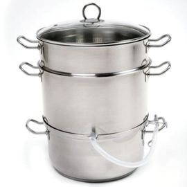 Stainless Steel Steamer-Juicer
