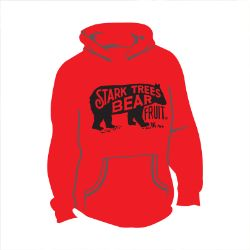 Long Sleeve Bear Logo Hooded Sweatshirt True Red