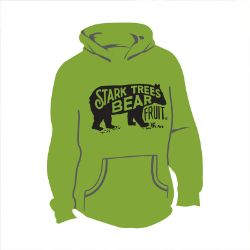 Long Sleeve Bear Logo Hooded Sweatshirt Kiwi