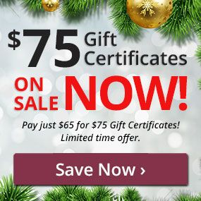 Pay just $65 for $75 Gift Certificates!
