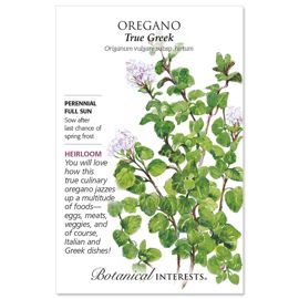 True Greek Oregano Seed