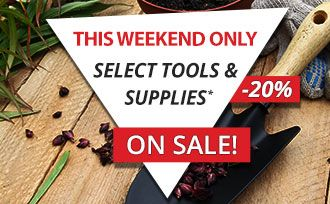 Save 20% on select Tools & Supplies - This weekend only!